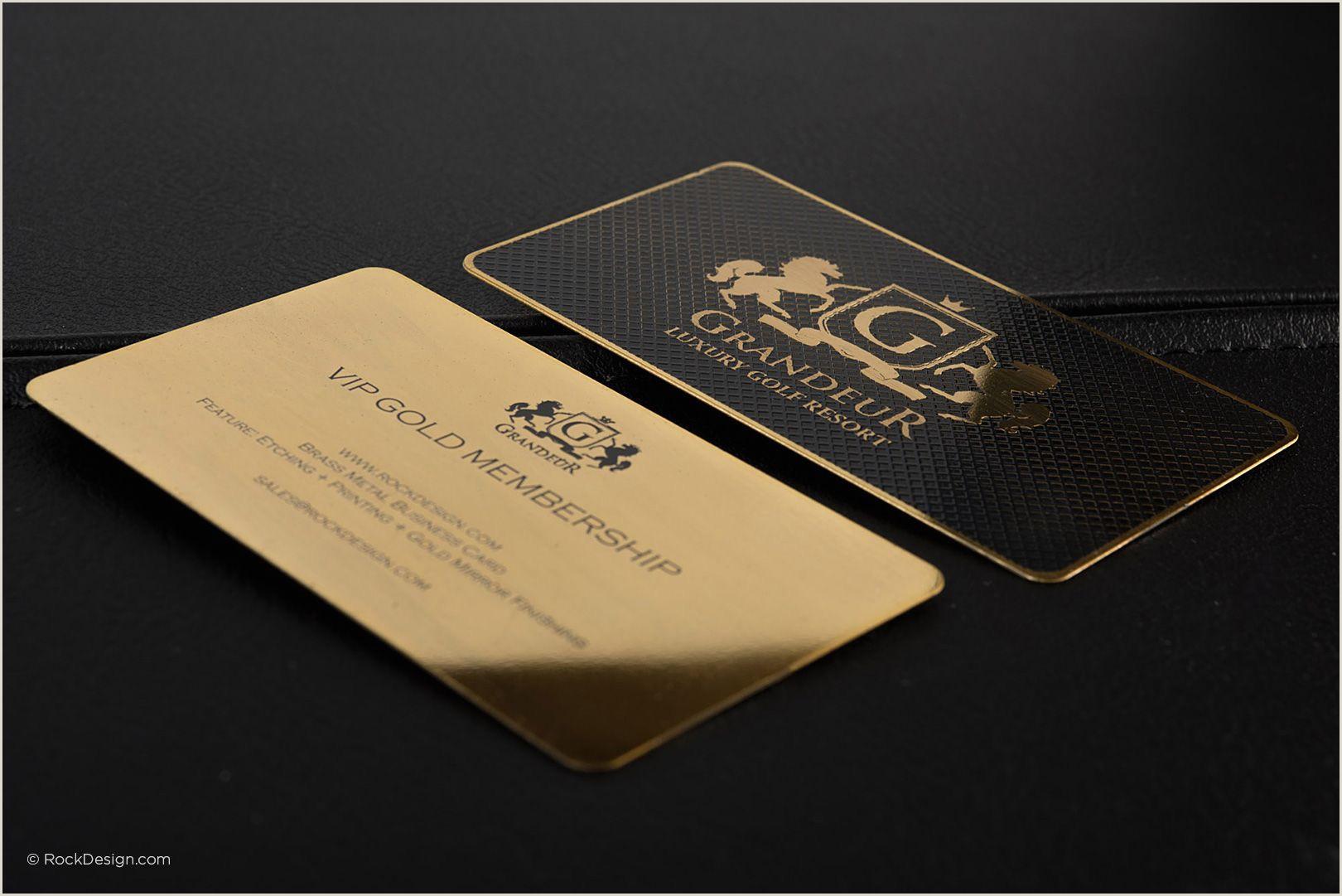 Band Business Cards Unique Luxury Gold Metal Business Card Grandeur