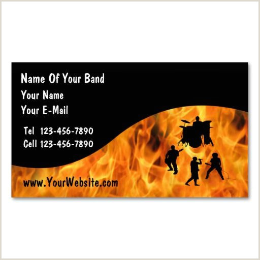 Band Business Cards Unique Rock Band Business Cards Bizcardstudio