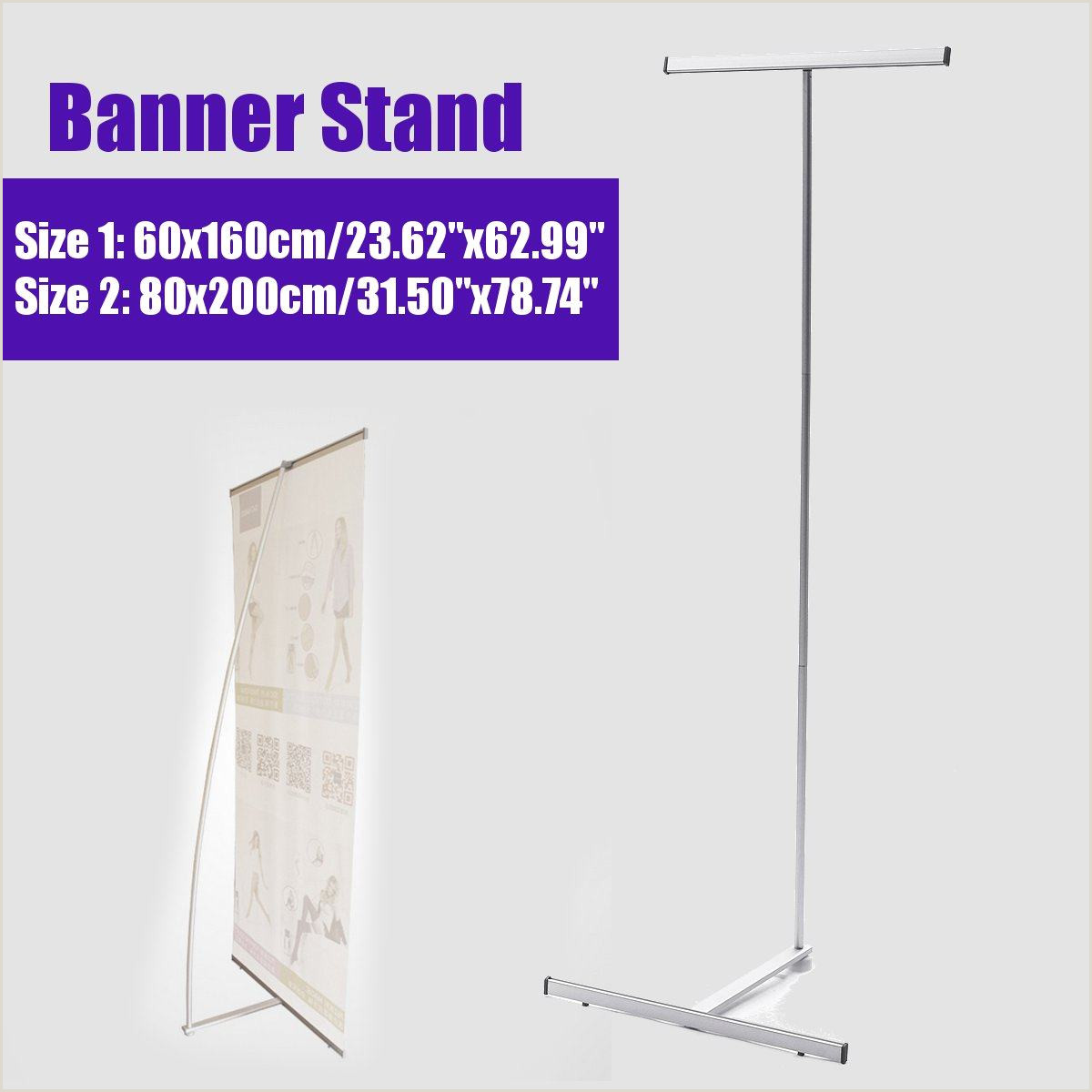 Banner Frame Stand 60 160cm 80 180cm Iron Frame Poster Display Banner Stand Kit Floor Standing Frame Label Sign Billboard Rack Trade Show