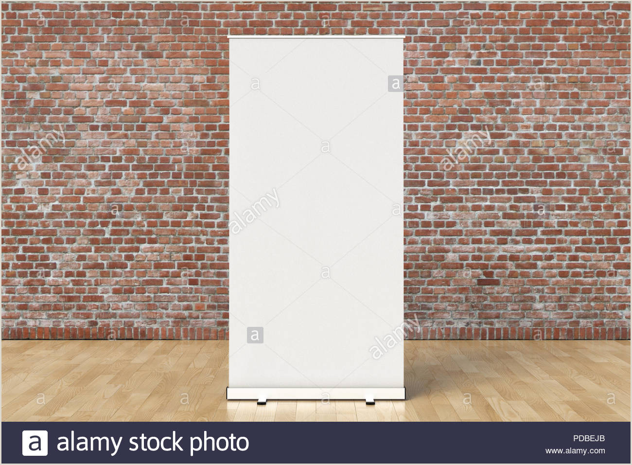 Banner Frame Stand Blank Roll Up Banner Stand With Clipping Path Around Banner
