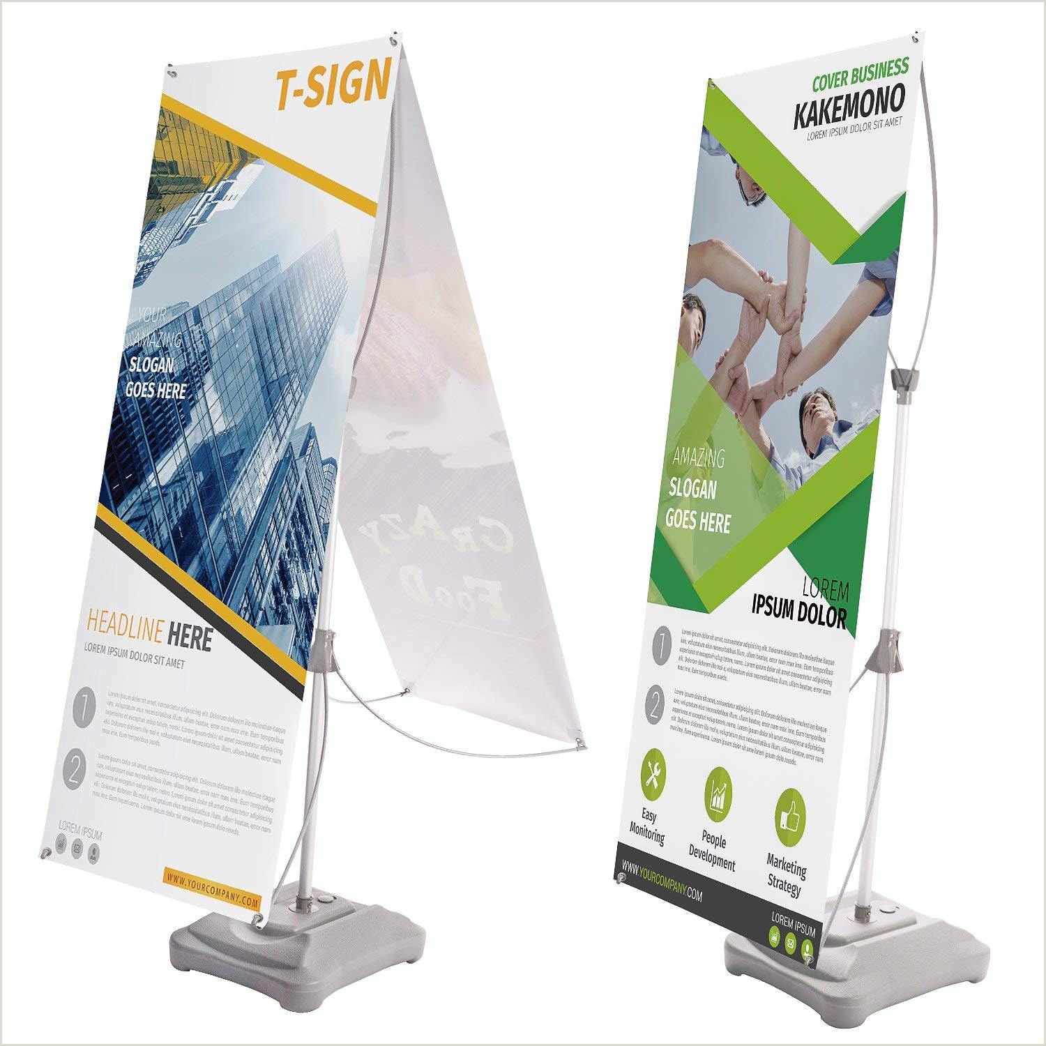 Banner Holders Outdoor Buy Outdoor Retractable Banner Stand Portable High Quality