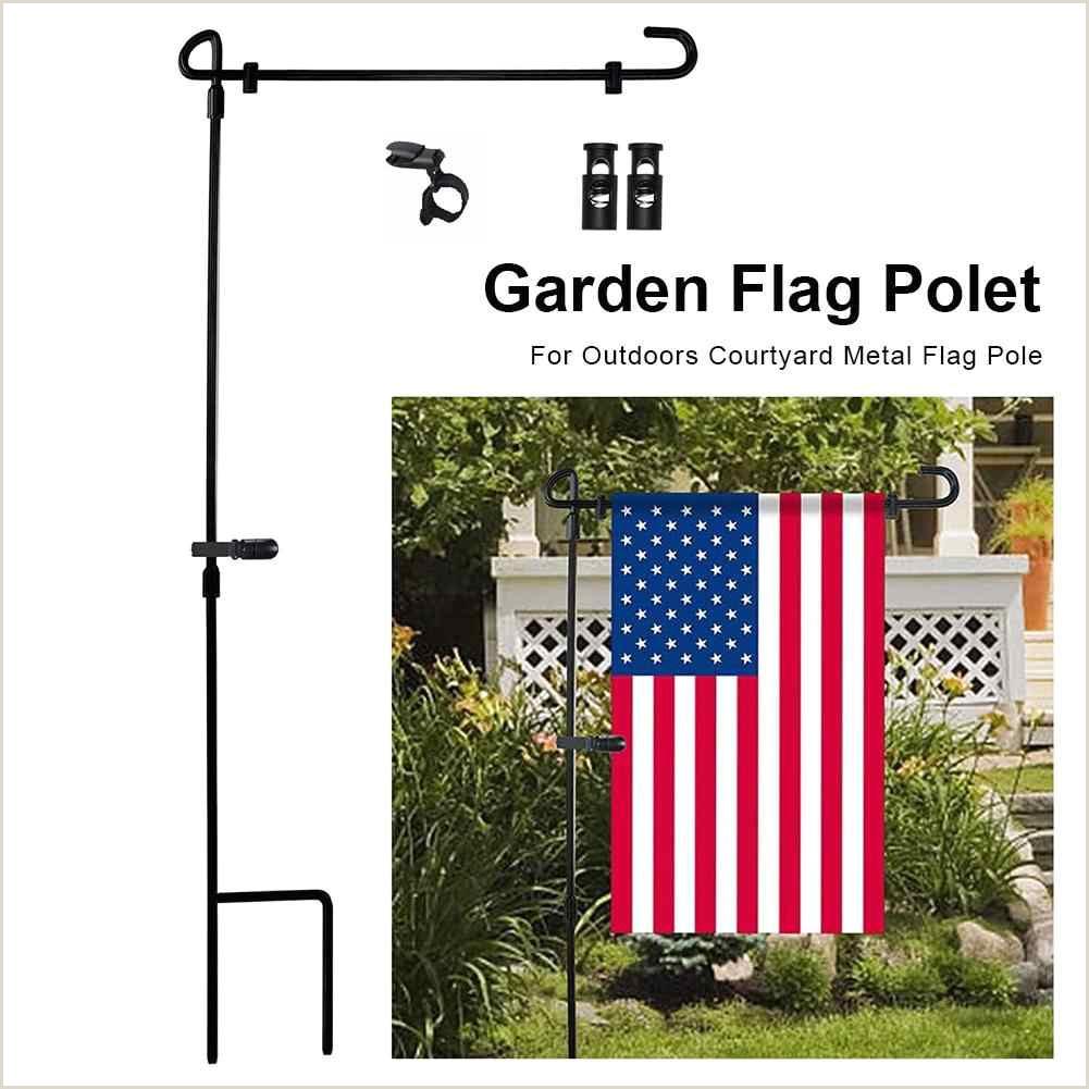 Banner Holders Outdoor Garden Flag Stand Metal Flag Pole Holder Banner Flagpole For Home Outdoor Courtyard Garden Lawn