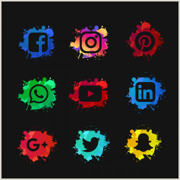 Banner Light Screen Social Media Set With Ink Splashed Ink Splash Abstract