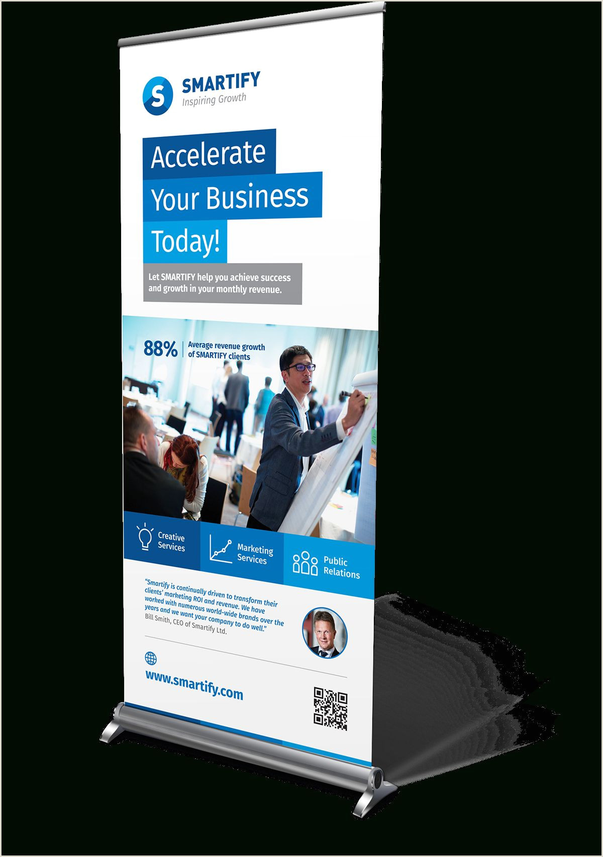 Banner Pop Up Corporate Business Roll Up Banners Template For Download
