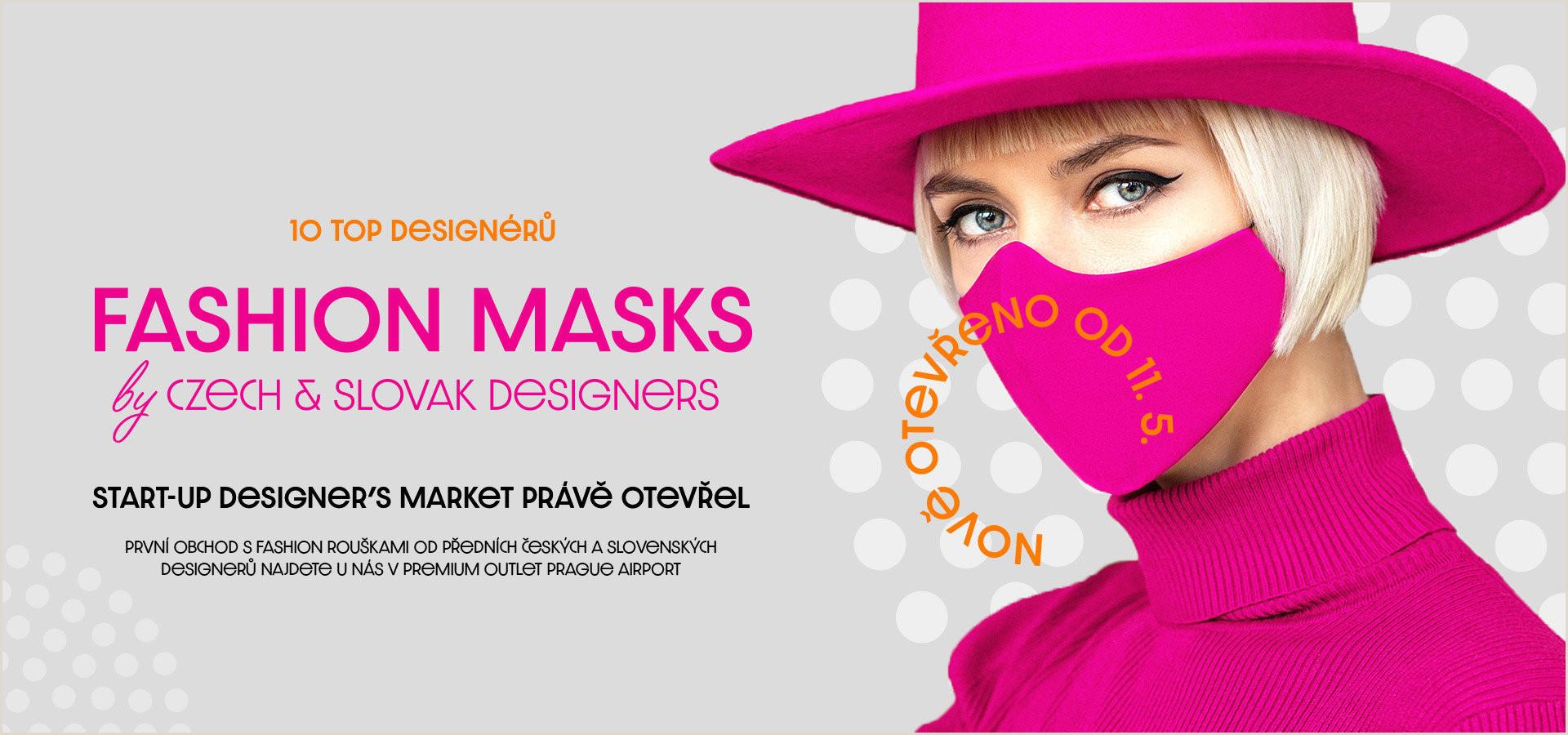 Banner Pop Up Fashion Masks By Czech & Slovak Designers Start Up