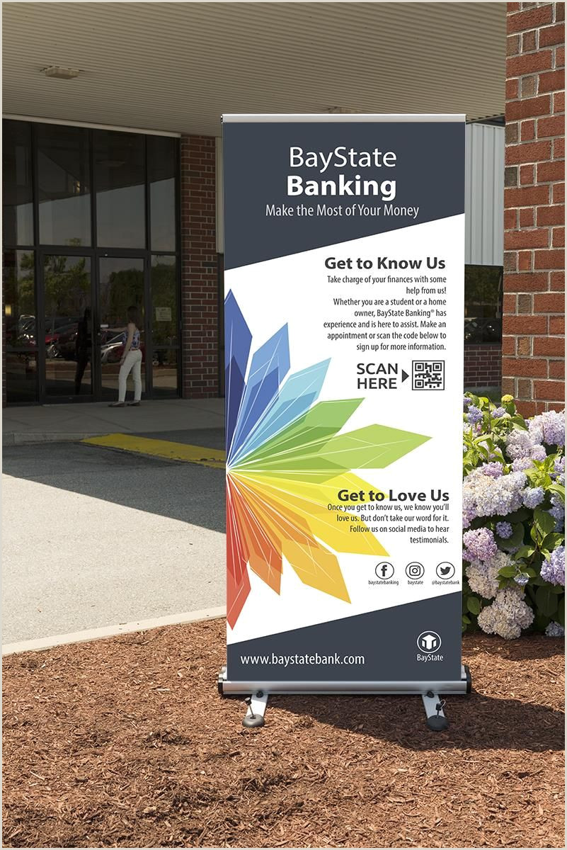 """Banner Stand Designs Outdoor Retractable Banner Stand W 2 39"""" X 79"""" Custom"""