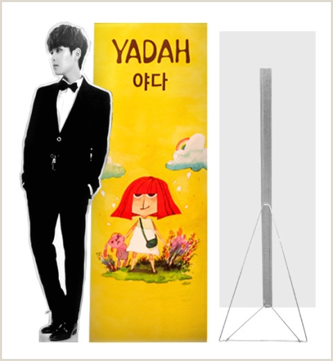 Banner Stand Dimensions Bunting & Standee