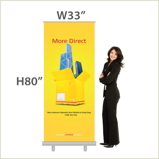 Banner Stand Dimensions Retractable Banner Size