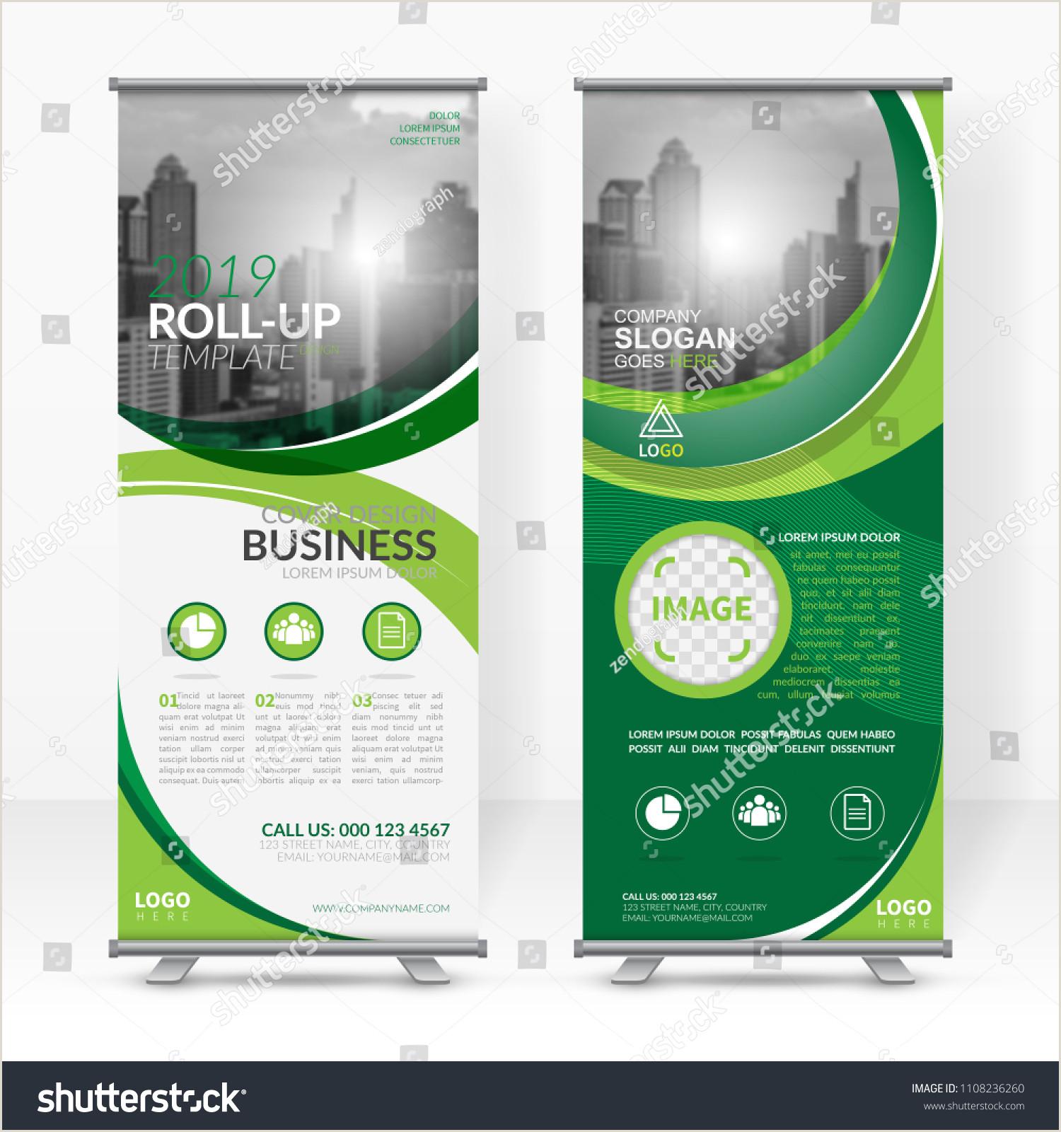 Banner Stand Horizontal Business Roll Design Template Xstand Vertical Stock Vector