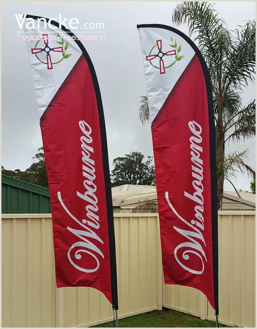 Banner Stand Horizontal Custom Advertising Flags Feather Flag Printing Advertising