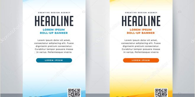 Banner Stand Horizontal Professional Roll Up Stand Banner Template Design