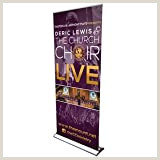 """Banner Stand Retractable Amazon Signworld 45"""" Retractable Roll Up Banner Stand"""