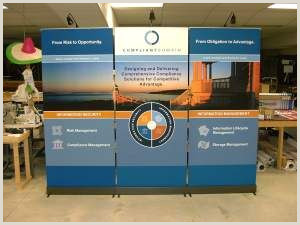 Banner Stand Retractable Banner Stands As A Trade Show Backdrop