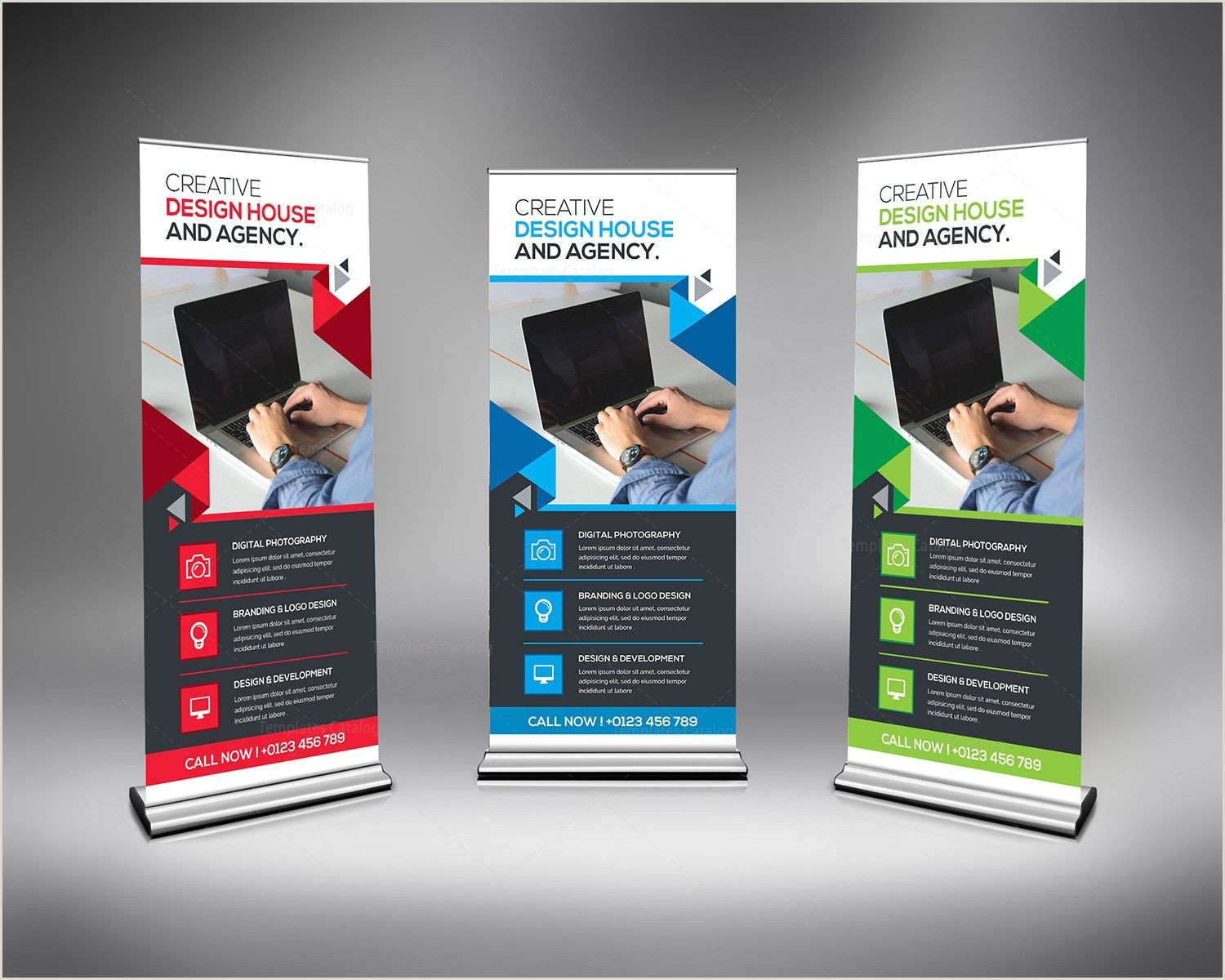 Banner Stand Retractable Rollup Banner Templates Stylish Graphics