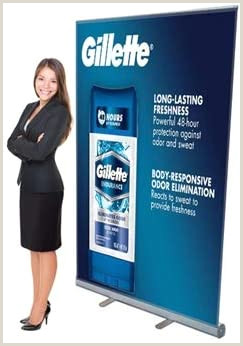 """Banner Stand Retractable Signworld 45"""" Retractable Roll Up Banner Stand Display"""
