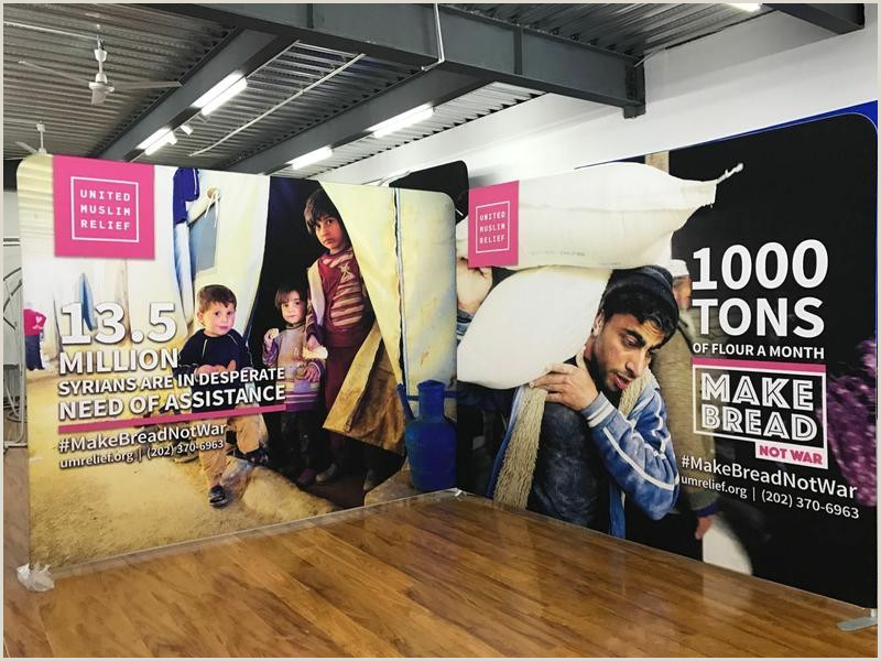 Banners With Stands 10ft 8ft Advertising Fabric Backdrop Display With Banner