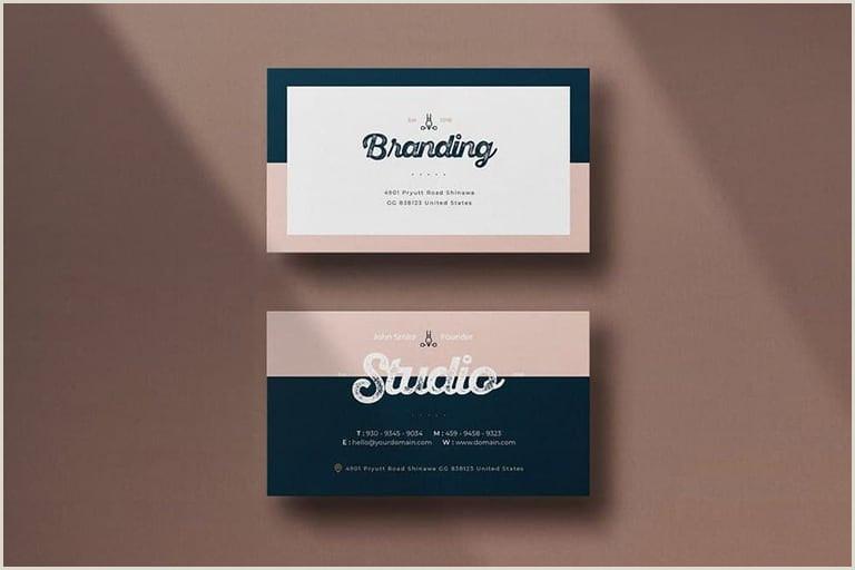 Beautiful Business Card Templates 20 Best Modern Business Card Templates 2020 Word Psd