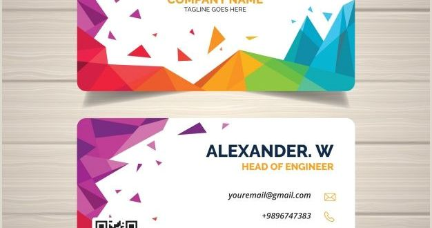 Beautiful Business Card Templates Download Abstract Business Card for Free