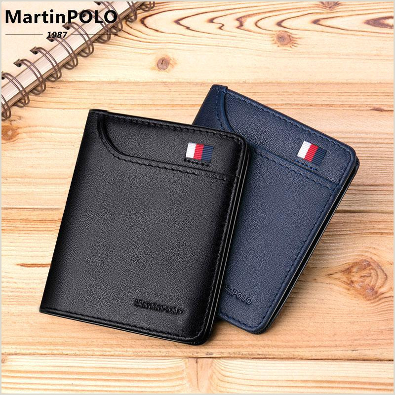 Best Buisness Card Martinpolo 2019 Mens Wallet Slim Business Card Holder Purse Real Cowhide Men Fashion Casual Mini Card Bag Mp1001 Tough Wallet Purple Wallet From