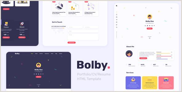 Best Business Card Website 2020 2020 S Best Selling HTML Business Card Website Templates