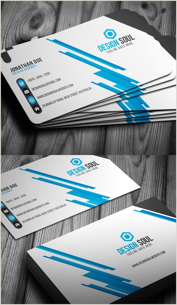 Best Business Cards 20209 25 New Modern Business Card Templates Print Ready Design