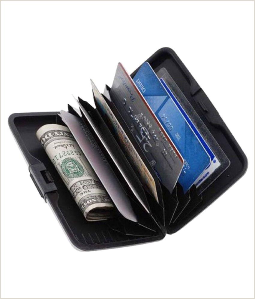 Best Business Cards? Atm Card Holder Aluminum Metal Case Box Hard Case Holder Business Card Id Wallet Credit And Debit Card Holder 6 Card Holder Set Of 2 Black