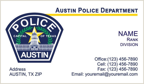 Best Business Cards Austin Austin Police Department Business Cards