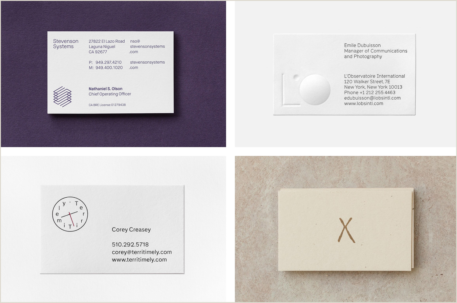 Best Business Cards Bofa Business Card Design Gallery — Bp&o