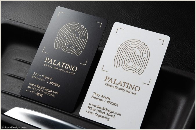 Best Business Cards For A Jewelry Designer Awesome Jeweler Quick Metal Business Card With Laser