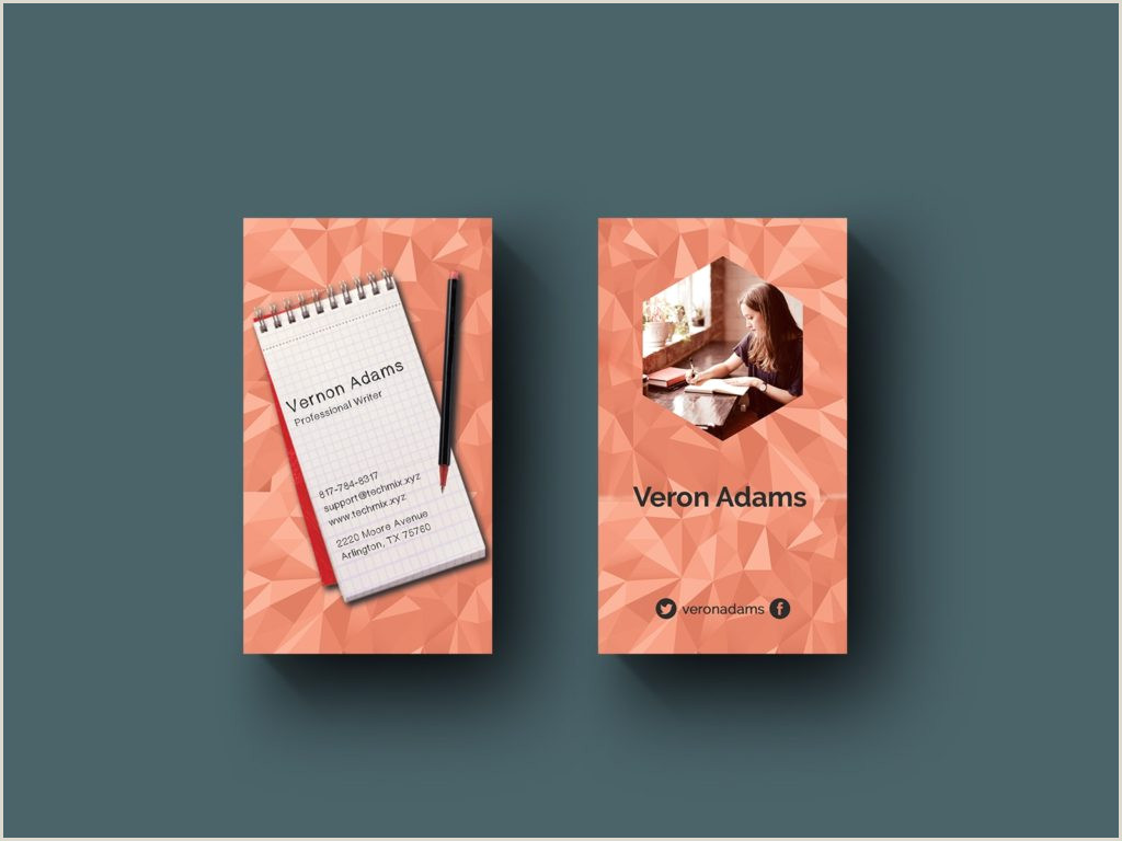 Best Business Cards For Authors 5 Best Writer S Business Cards 2020