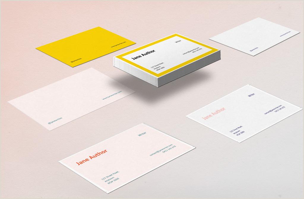 Best Business Cards For Authors 7 Unique Business Card Design Ideas For Authors Plus 3 Free