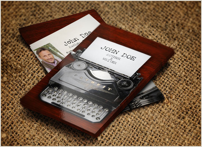 Best Business Cards For Authors Free Author Business Card Templates · Adazing