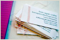 Best Business Cards For Crafters 30 Best Homemade Business Cards Images
