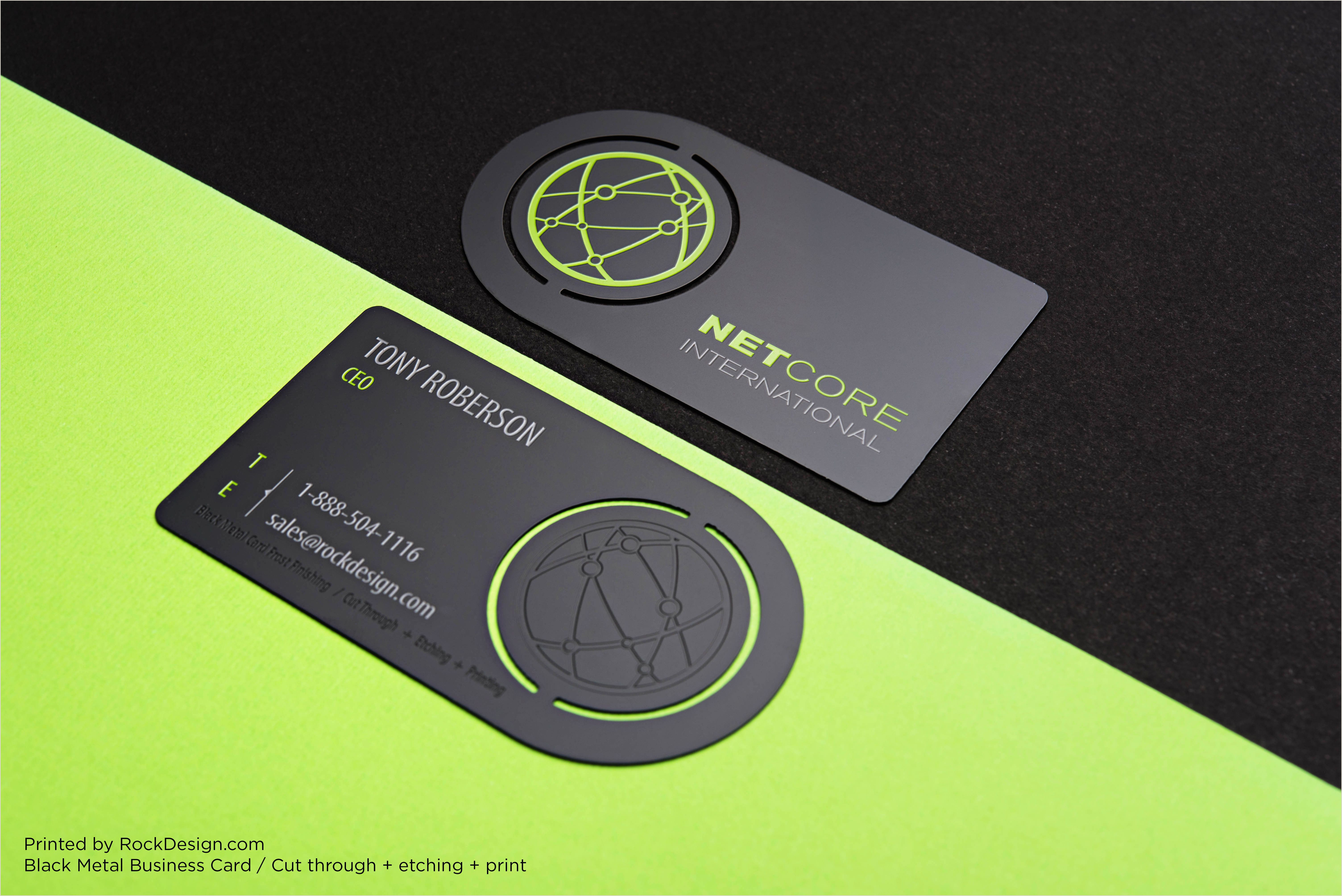 Best Business Cards For Crafters Black Metal Business Cards By Rockdesign