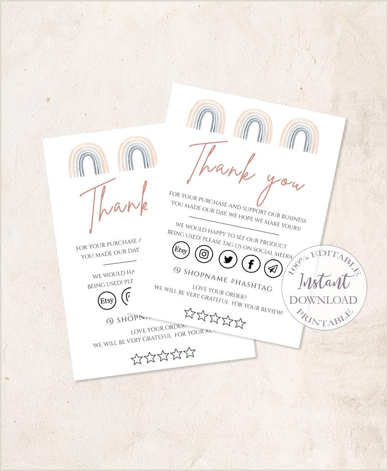 Best Business Cards For Crafters Thank You Rainbow Business Card Craft Business Package