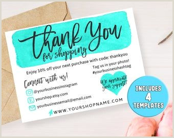 Best Business Cards For Etsy Business Thank You Cards Instant Download Business Card