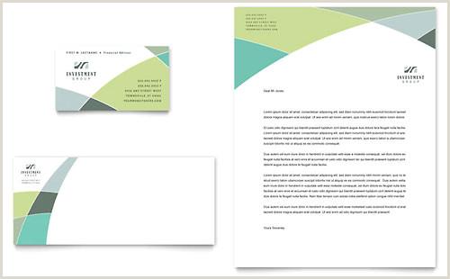Best Business Cards For Financial Advisor Financial Advisor Business Card & Letterhead Template Design