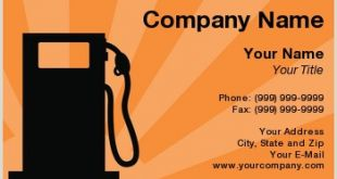 Best Business Cards for Fuel and Parts Gas Station Business Cards