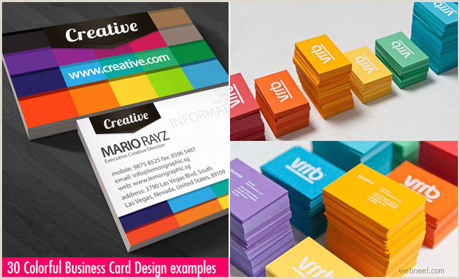Best Business Cards For Multi Colored Logo 30 Colorful Business Card Design Examples For Your Inspiration