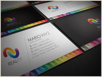 Best Business Cards For Multi Colored Logo Colorful Business Card Designs Themes Templates And