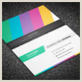 Best Business Cards For Multi Colored Logo Free Vibrant Multi Color Business Card Template