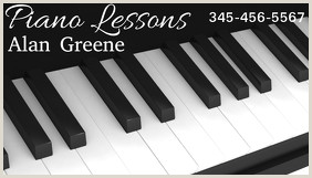 Best Business Cards For Piano Teacher 50 Piano Lessons Business Card Customizable Design