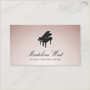 Best Business Cards For Piano Teacher Piano Teacher Business Cards Business Card Printing