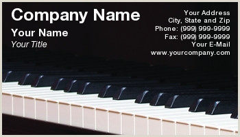 Best Business Cards For Piano Teacher Piano Teacher Business Cards
