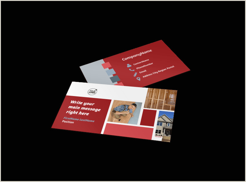 Best Business Cards For Remodeling Remodeling Contractor Business Card Template