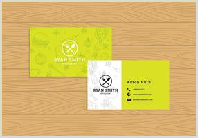 Best Business Cards For Restaurants Restaurant Business Card Free Vector Art 363 Free Downloads