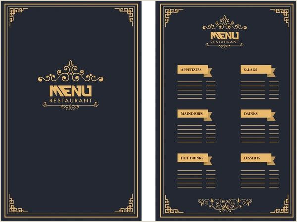 Best Business Cards For Restaurants Restaurant Menu Royal Style Dark Background