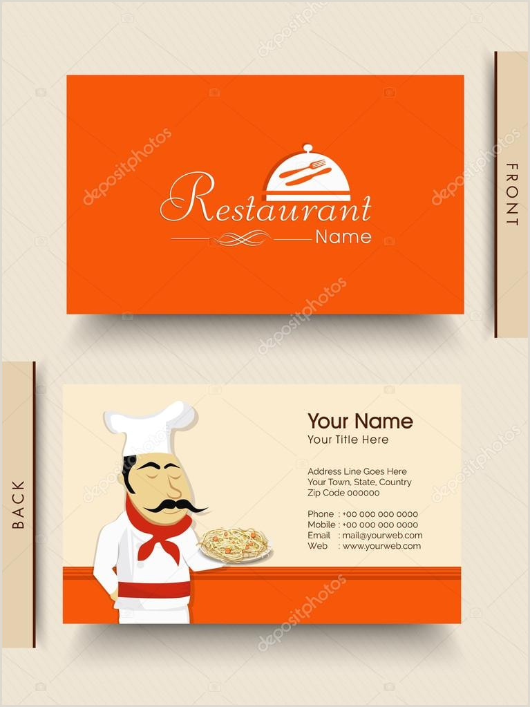 Best Business Cards For Restaurants Stylish Business Card For Restaurant