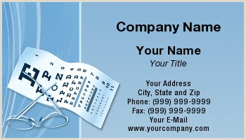 Best Business Cards For Retina Specialist Eye Doctor Business Cards