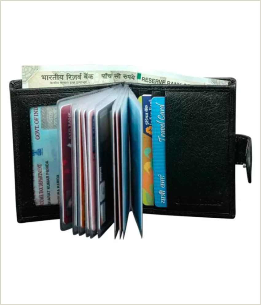 Best Business Cards For Rewards Men S Handmade Artificial Leather Black Credit Card Holder